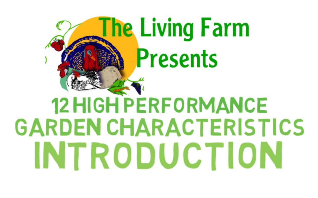 12 Characteristics of a High Performance Garden