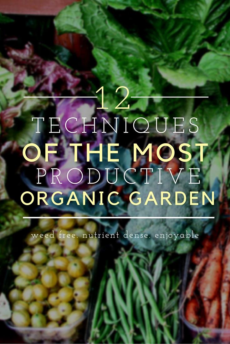 12 techniques of an organic garden