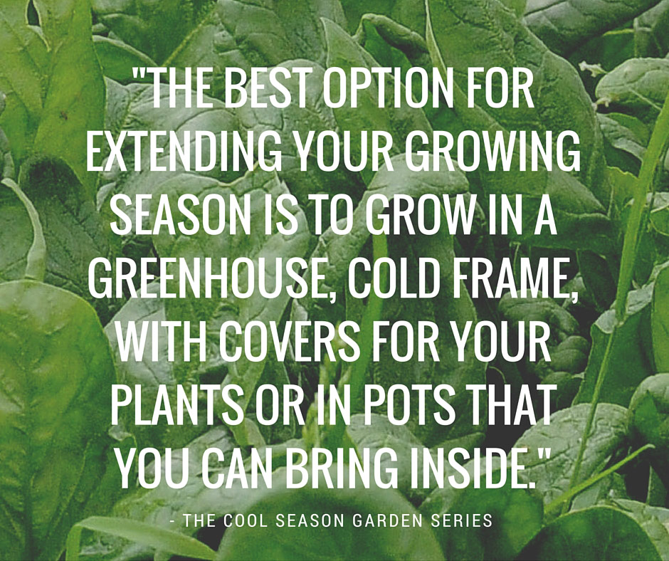 Growing Zones One And Two Cool Season Garden